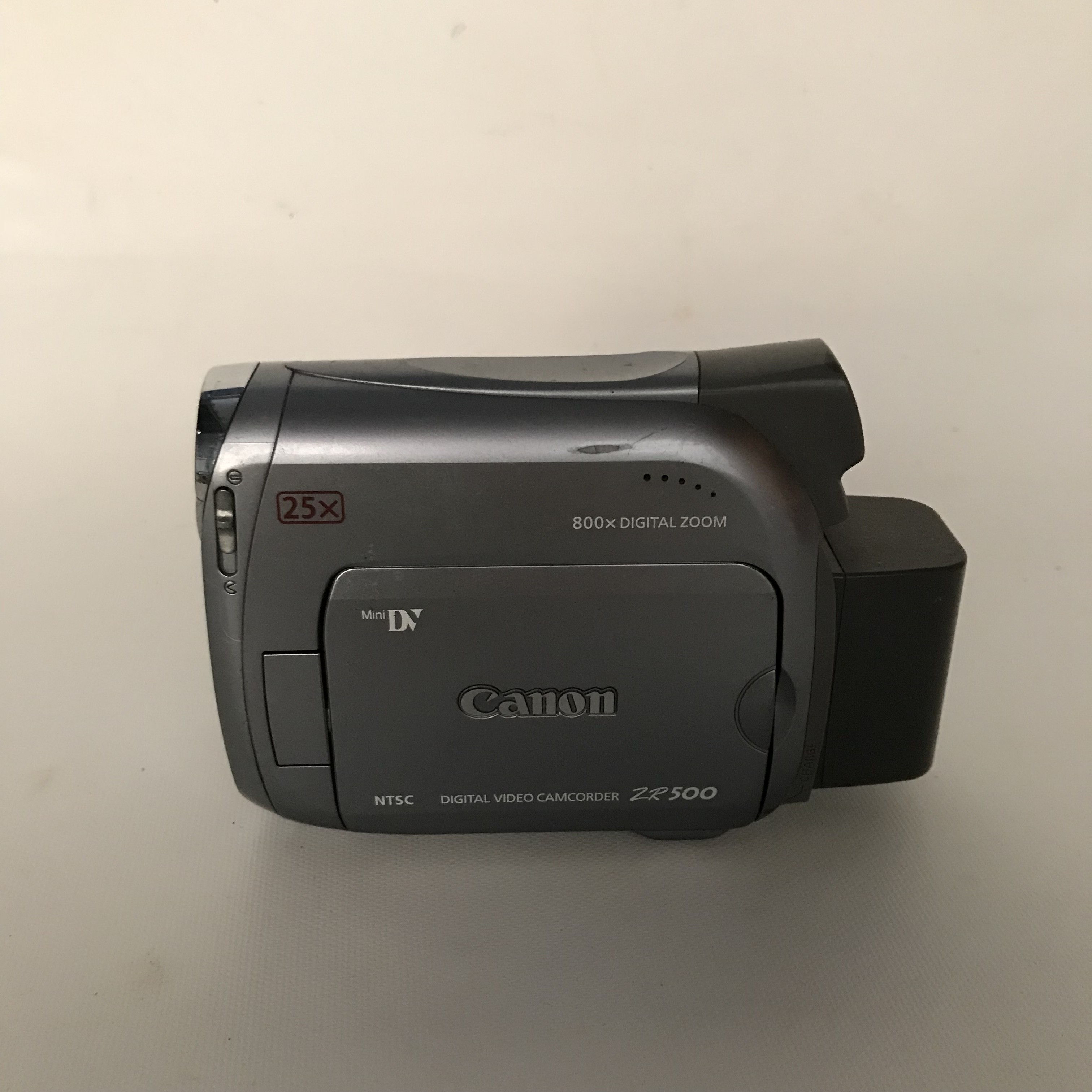 LOT of 2 Camcorders – Includes: Sony Video 8 CCD-TRV16 and Canon MiniDV  ZR500 – Both untested-Item #041